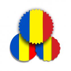 Timbru Sec Tricolor 39mm